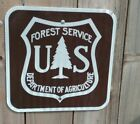 US Forest Service Department Agriculture metal DOT Reflective sign 1212