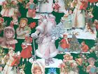 VTG CHRISTMAS WRAPPING PAPER GIFT WRAP 2 YARDS VICTORIAN SANTA  CHILDREN TREES