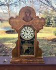 President McKinley Gingerbread Ingraham Antique Shelf  Parlor Clock