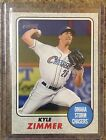 2017 TOPPS HERITAGE MINOR LEAGUE KYLE ZIMMER GRAY BORDER 25 ROYALS