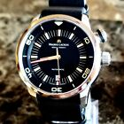 MAURICE LACROIX PONTOS DIVER PT6248-SS002-330-1 WRIST LEATHER AND SS BANDS INCLU