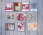 10 Valentines Day Love greeting cards envelopes Stampin Up+more
