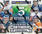 2016 Panini Contenders Football Factory Sealed Hobby Box - 5 Autographs Per Box