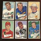 1952 Bowman Large Football Card Lot 6 Different P VGEX