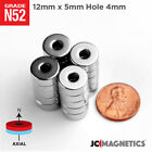 12 Mm X 5 Mm Hole 4 Mm 12x316 Ring Disc Rare Earth Craft Fridge Magnet