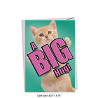 C6614GMYG Miss You Greeting Card Cat A Big Hug with Envelope 5 x 7 stationery
