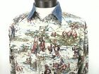 VINTAGE GUESS JEANS Mens Western Cowboy Rodeo Button Up Shirt USA Made Small