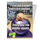 C3955BDG Funny Single Birthday Greeting Card Diddly Squats with Envelope