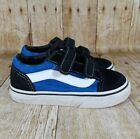 Vans authentic Old Skool Checkered Navy Blue Shoes Kids Medium Infant Toddler 9C