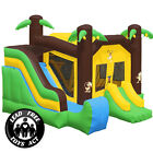 Commercial Grade Bounce House 100 PVC Inflatable Jungle Slide with Blower