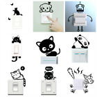 Cute Animals Wall Light Switch Sticker Kids Bedroom Vinyl Wall Decal Room Decor
