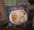 Primitive Ranch House Country Farm Barn Yard DAIRY COW FEED SACK 16