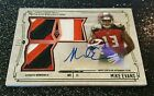 1 1 MIKE EVANS 2014 TOPPS MUSEUM ROOKIE RC AUTO AUTOGRAPH & LOGO PATCH *1 1*