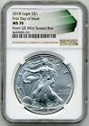 2018 1 Silver Eagle NGC MS70 FIRST DAY OF ISSUE Monster Box Label Pop only 250
