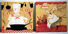 2 Fabric on Wood Kitchen Cook Pictures Signs Posters by Dan DiPaolo Studios