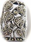 VINTAGE FINE STERLING SILVER NATURAL MINED MARCASITE RECTANGLE LADIES RING S575