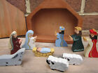 Christmas Nativity Mini Hand Carved Wood Painted Compact Box