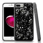 For Apple iPhone 7 Plus 8 Plus Silver Gray Flakes Hard TPU Hybrid Case Cover