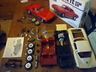 Vintage 1:8 scale '65 Corvette Sting Ray Plastic Model Car Junkyard Lot Parts