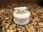 ANTIQUE WESTMORELAND CANON ON A DRUM FROSTED MILK GLASS COVERED JAR CANDY DISH