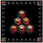 New Foundation Paper Piecing Quilt Pattern LOG CABIN CUBES 49 square