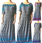 Women Long Maxi Summer Beach Boho Evening Off The Shoulder Sundress Plus Size