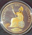 RARE Only 1200 Minted 2006 Canada $300 14kt Gold Coin RCM Shin plaster 60g 50mm
