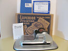 Vintage Boxed Superior Ace Toy Printing Press No. 8405 1960's Clean and Complete