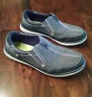 Mens Sonoma Life+ shoes Style Shoes Leather Texstile Loafers Size 11 M denim