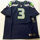 NFL $295 Authentic Nike Elite Russell Wilson Seahawk Game Jersey On Field 52 2XL