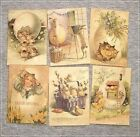 Set of 18 Vintage Antique Look EASTER LABELS VICTORIAN Primitive Grungy