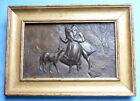 DATED 1915 AND SIGNED FRENCH ARTIST LOUIS DE SCHRYVER BRONZE PLAQUE