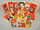 Vtg Lot of 14 Unused 1960s Valentines Day Cards + Env Pop Out Monkey Ostrich