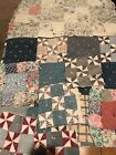 Lot Of 8 Antique Quilt Pieces Blocks Squares