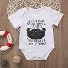 Summer Baby Shirt Cotton Newborn Baby Boy Girl Funny Romper Clothes Outfits US