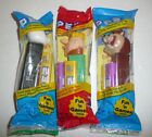 Lot of 3 Pez Dispensers - Taz Barney Rubble Panda Bear - Looney Tunes NEW SEALED