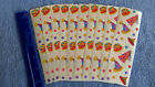 Mrs Grossman LOT 10 Strips PARTY HATS VINTAGE RETIRED Stickers