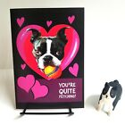 Anniversary Card Cute Boston Terrier Dog Greeting Card Flirt