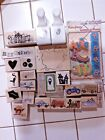 Large Lot of Stamps Happy Halloween Transportation Stampin Up Martha Stewart