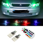 2X T10 921 High Power RGB LED Multi-Color Parking Interior Light Bulbs Canbus