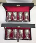 COMPANY SILVER PLATE MINI GOBLET  Cherub Angels and Grape Leaves (2)