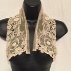 Antique Lace Collar in cream with Flowers and Discs