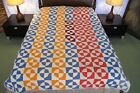 FULL Vintage Antique Hand Sewn Cotton W/ Novelty ROB PETER TO PAY PAUL Quilt