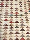 Full Twin size VINTAGE QUILT bedspread triangle pattern cotton hand quilted