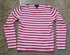PINK AND WHITE CHARTER CLUB LONG SLEEVE ZHIRT
