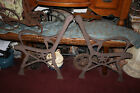 Antique Cast Iron Garden Bench Park Bench Support Arm Side Frames-Pair-Trees