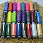 24Pcs Sewing All Purpose 100 Polyester Thread Spools 24 Colours Set