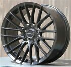 SET4 18X9 5x120 INOVIT MATTE BLACK WHEELS BMW 3 5 SERIES PONTIAC GTO CTS