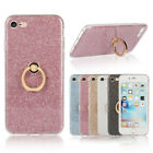 Bling Ultra Thin Soft TPU Stand Ring Back Glitter Protective Case Cover For HTC