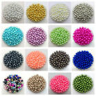 4mm 6mm 8mm 10mm No Hole Imitation Pearls Round Beads DIY Jewelry Making CA
